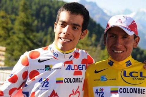 Moñona colombiana en el Tour de l'Avenir 2010.