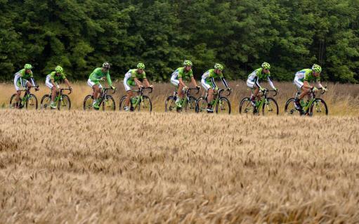Los más interesados en conseguir la etapa. El equipo Cannondale.