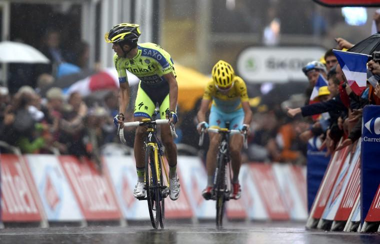 Contador necesitó de cada centímetro de los 161 kilómetros para desprender a Nibali.