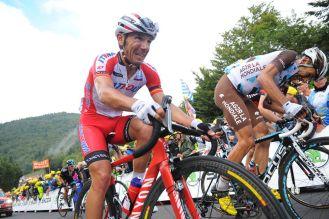 """Con la etapa en una mano, """"purito"""" fue alcanzado por el grupo de favoritos y terminó entrando muy por detrás del ganador, Nibali."""