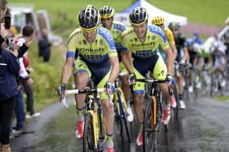 El trabajo del día fue del Tinkoff. Con la llegada de la montaña, mostraron sus cartas en una abierta batalla contra el Astana.
