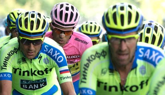 """""""No voy cómodo sobre la bicicleta, y eso se nota. Pero he podido conservar el liderato, y eso es lo importante."""" Alberto Contador"""