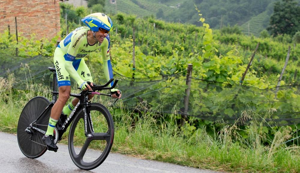 Contador no tuvo rival entre los top 5, en su carrera hacia Valdobbiadene.