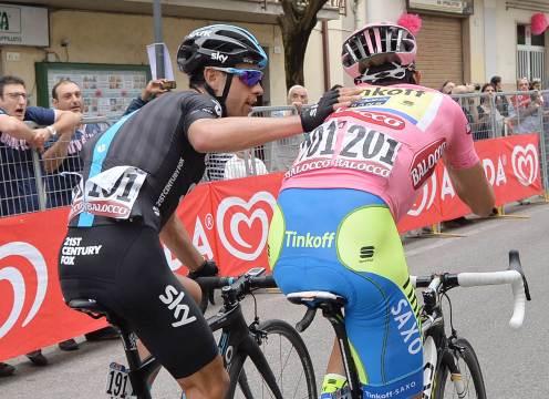 Porte y Contador celebran el haber descartado, al menos por ahora, las posibilidades de Rigoberto Urán.