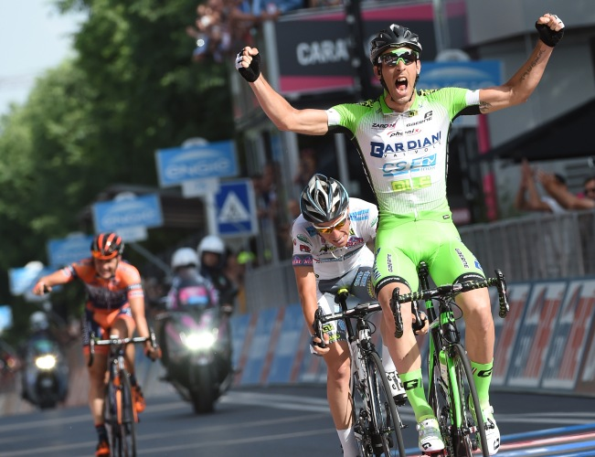 Nicola Boem venció en un largo sprint.