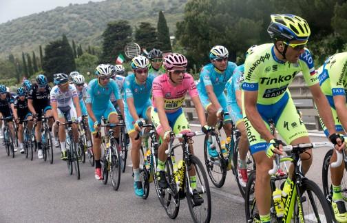 Alberto Contador, del Team Tinkoff Saxo, durante el recorrido de la seeptima fracción del Giro d'Italia 2015. Grosseto-Fiuggi.
