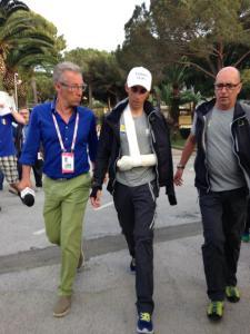Contador a la salida de la revisión médica.