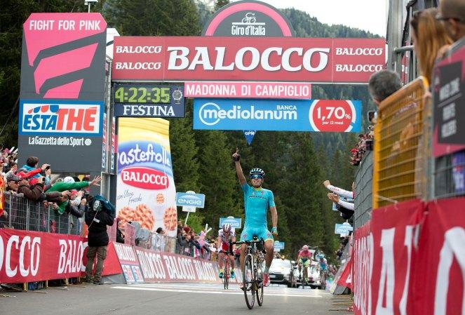 Mikel Landa acompañará ahora a Marco Pantani, hasta hoy único vencedor en Campiglio.
