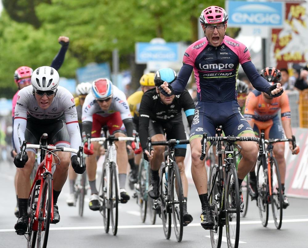 El vencedor de la jornada, Sacha Modolo, del Lampre.