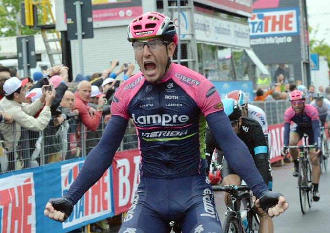 Modolo venció en un sprint apretado.