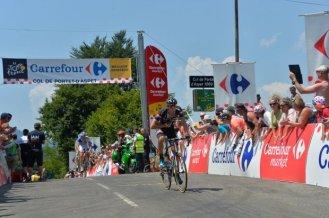 Côl de Portet d'Aspet en el kilómetro 57. Georg Preidler cruzó primero.
