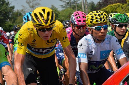 Chris Froome y Nairo Quintana durante la etapa.