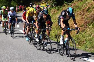 El grupo favorito en el ascenso a Pierre Saint Martin. Froome, Contador y Quintana entre los favoritos.