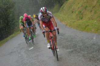 La jornada tuvo un poco de lluvia en los primeros kilómetros.