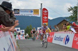 """""""Purito"""" Rodriguez fue el primero en alcanzar la cima en Col de Chaussy."""