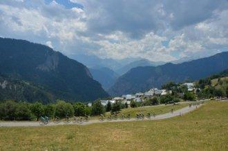 Los punteros tras el ascenso a Col du Chaussy.