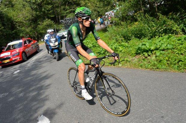 Pierre Rolland en solitario, a 67 kilómetros de la línea de meta.