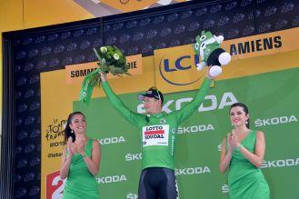 André Greipel viste un día más la camisa verde.