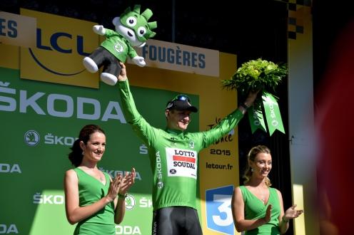André Greipel continúa vistiendo la camisa verde.