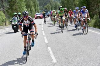 Momento en el que Geschke atacó. Cabalgata de 25kms para su primera victoria en la Grand Boucle.