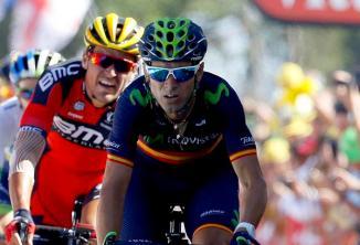 Valverde pudo descontar unos pocos segundos de su acumulado, con la bonificación obtenida con su tercer lugar en la jornada.