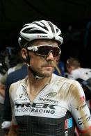 Bauke Mollema. En su cara, la evidencia del heroísmo de los ciclistas.