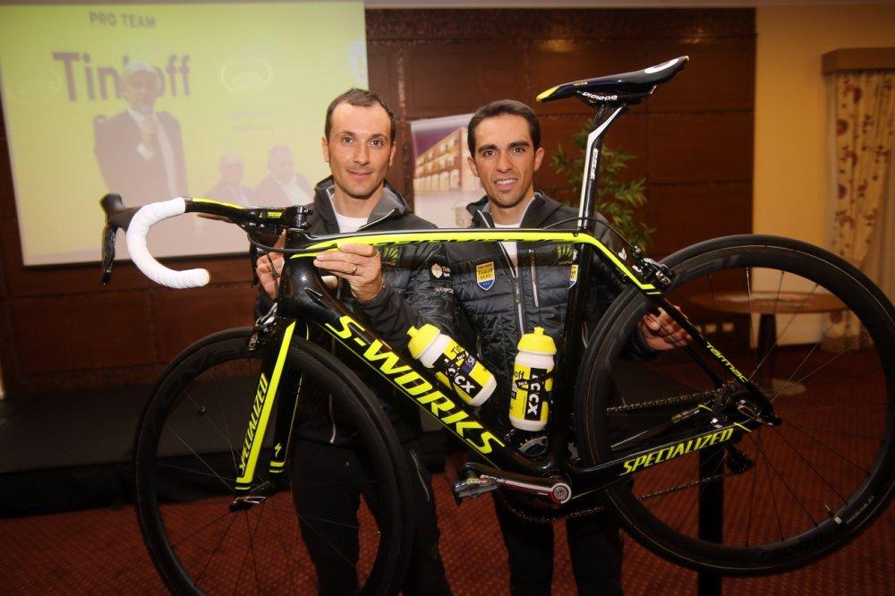 Alberto Contador esperaba contar con Basso en las montañas del Tour 2015.