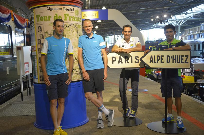 Los cuatro favoritos para el Tour de France 2015. Nibali, Froome, Contador y Quintana.