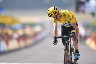 La confianza de Froome transpiró en algunas expresiones sobrebias durante la etapa 14.