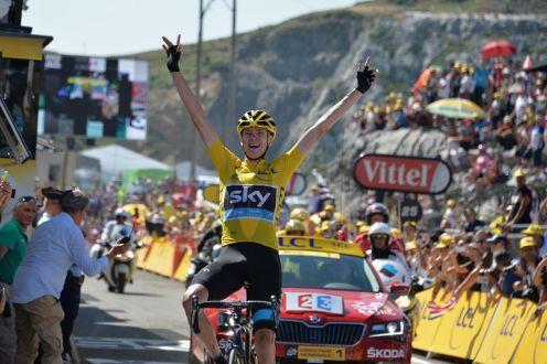 Chris Froome reafirma su liderato en La Pierre Saint Martin.