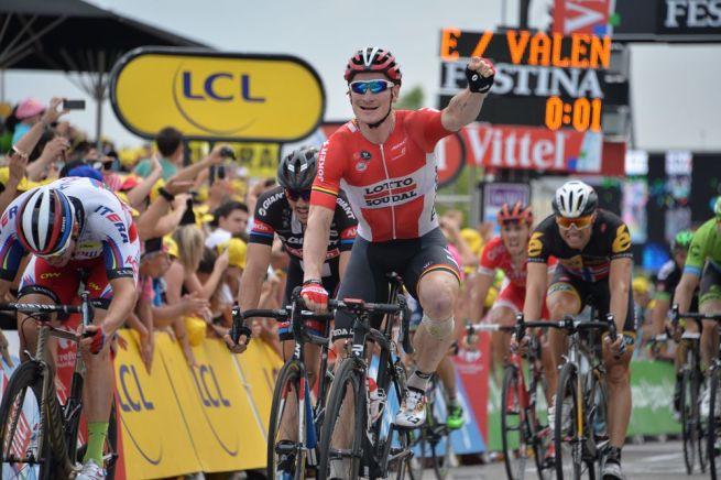 Tercer triunfo de Greipel en el Tour de France 2015.