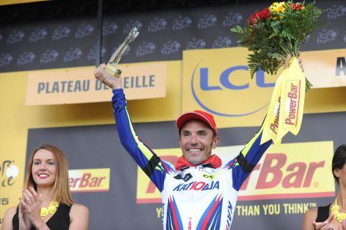 """Joaquim """"Purito"""" Rodriguez, el vencedor de la etapa."""