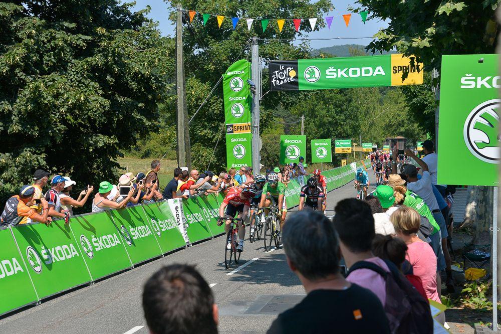 André Greipel cruzó primero el sprint, pero no le alcanzó para quedarse con la camisa verde.