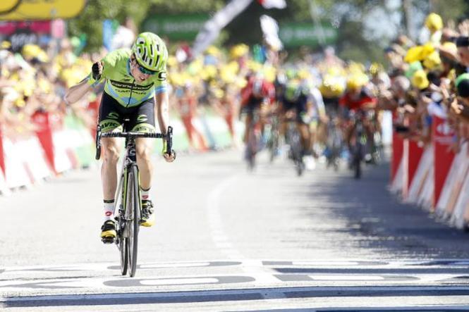 Dan Martin dejó escapar la etapa, después de haber cocinado su triunfo por más de 20 kilómetros.