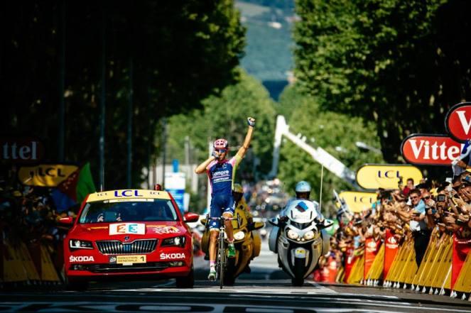 Rubén Plaza ganó la 16ª jornada del Tour de France 2015.