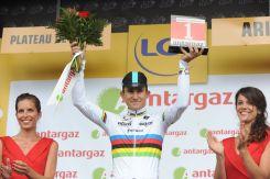 Michal Kwiatkowski ganó el premio de la combatividad.