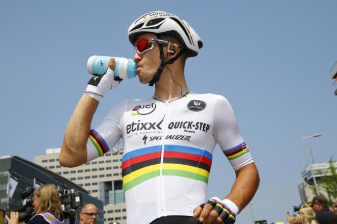 Michal Kwiatkowski partió confiado desde Ütrecht. Al final, el trabajo de su equipo, con l ayuda del viento, le valió meter tiempo frente a rivales fuertes como Quintana.