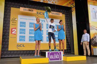 Nairo Quintana, 2º en la clasificación general y el mejor de los jóvenes.