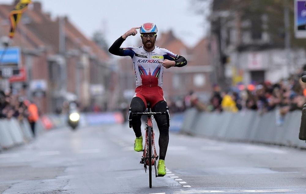 Paolini en su victoria de 2015 en Gent - Wevelgem