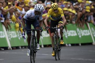 El careo de Quintana no parece preocupar a Froome.