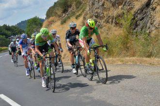 Hesjedal y Sagan siempre en cabeza de la fuga.