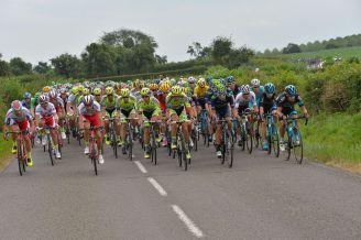 El Tinkoff Saxo lideró el lote durante buena parte de la jornada.