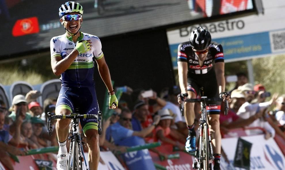 Esteban Chaves, primer líder de la Vuelta a España.