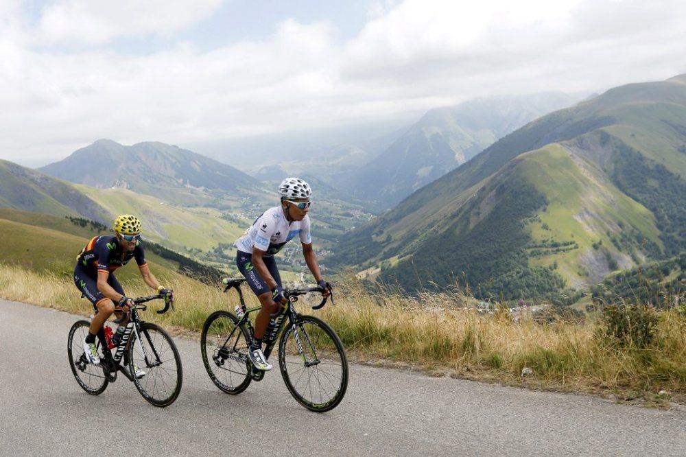Nairo Quintana y Alejandro Valverde, la dupla en la que el Movistar tiene puestas sus esperanzas para la Vuelta España 2015.