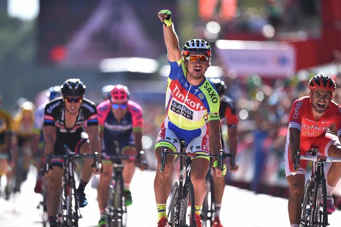 El eslovaco Peter Sagan se impuso sobre los embaladores de La Vuelta, en la tercera jornada.