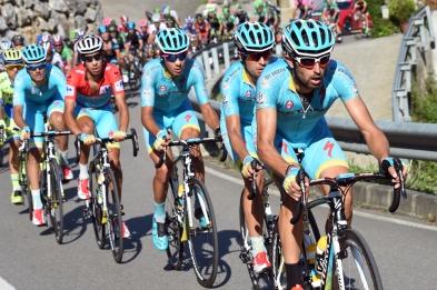 Astana impuso fuerte disciplina en el final de la jornada.
