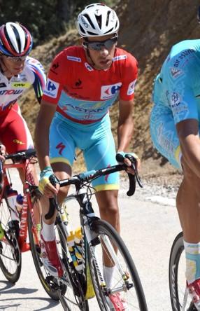 Fabio Aru no tuvo problemas para mantener el liderato.