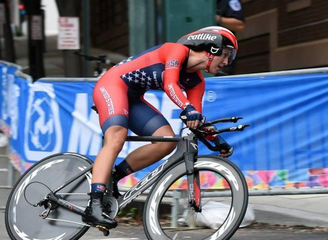 Chloe Dygart, nueva campeona mundial, durante su recorrido.