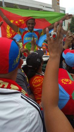 Eritrea estalló en una emotiva celebración, en la zona de meta.