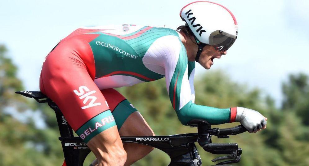 Vasil Kiryienka, nuevo campeón del mundo de la crono individual.